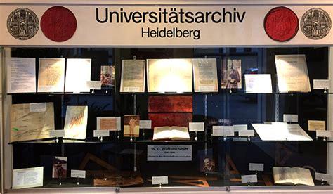 bw bank heidelberg öffnungszeiten veranstaltungen des universit 228 tsarchivs heidelberg