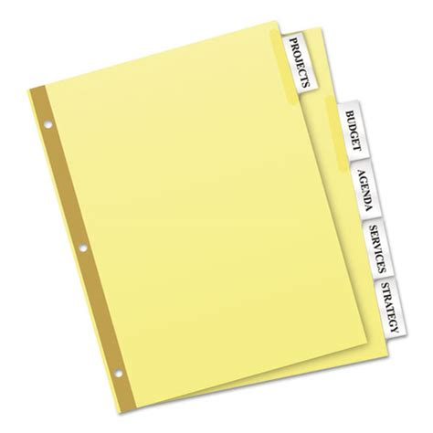avery big tab 5 tab template ave11110 avery insertable big tab dividers zuma