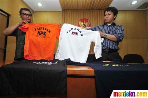 Baju Juru X foto kpk promosikan model baju tahanan merdeka