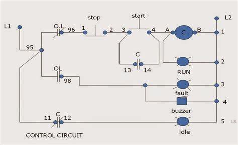 starter motor control operation  circuits