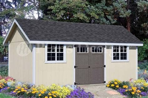 shed plans blueprints    gable roof style dg