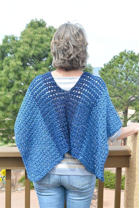 crochet poncho azul v mesh easy crochet poncho pattern in a stitch