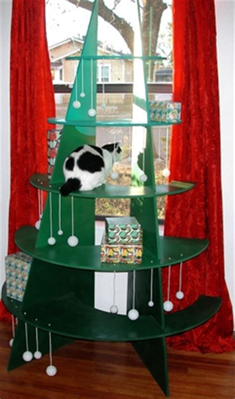 diy cat climbable christmas tree petdiys com