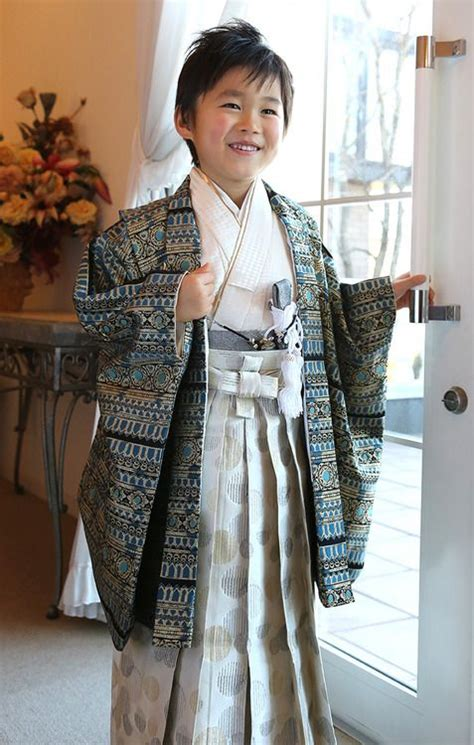 Kimono Boy japanese boy in his best traditional clothing kimono and