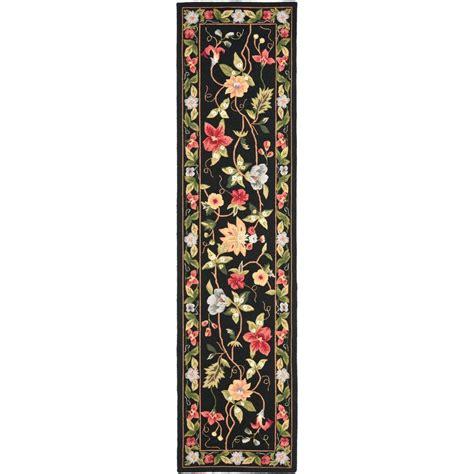 10 ft runner rug safavieh chelsea black 2 ft 6 in x 10 ft rug runner hk311a 210 the home depot