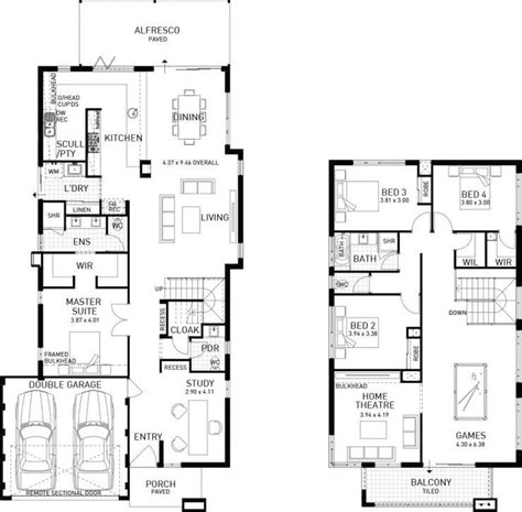 double story house floor plans best 25 double storey house plans ideas on pinterest