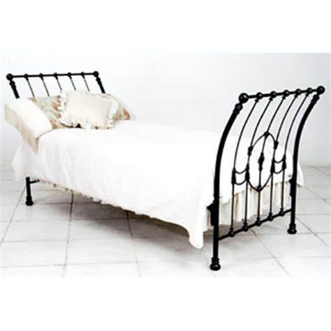 iron sleigh bed natalie s sleigh iron bed by corsican iron furniture