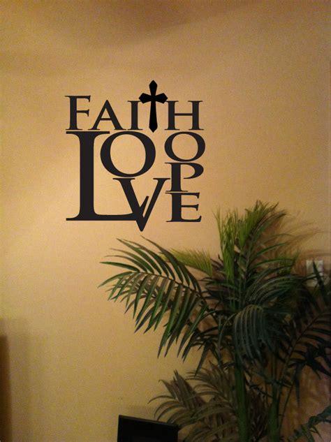 faith wall decor faith vinyl wall decal home decor in 2 sizes