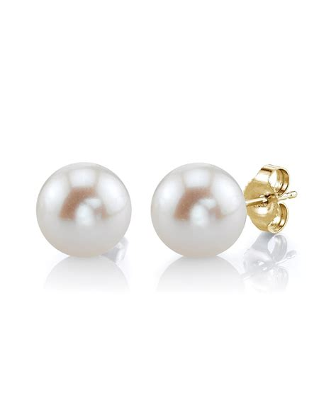 Pearl Earring 7mm white freshwater pearl stud earrings