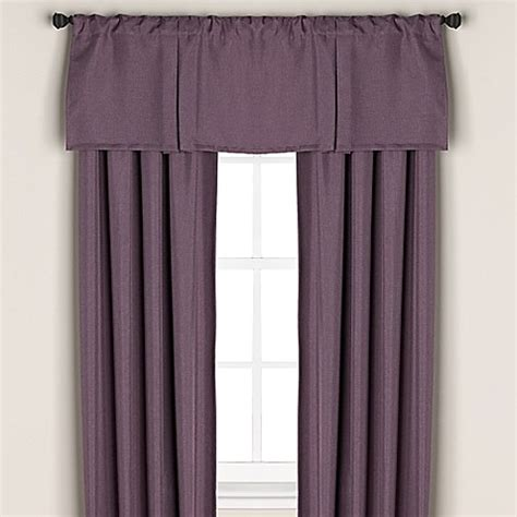 Purple Window Curtains Buy Bridgeport Window Curtain Valance In Purple From Bed Bath Beyond