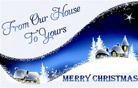 from our house to yours
