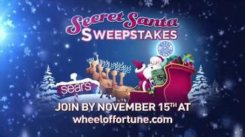 Sears Secret Santa Giveaway - wheel of fortune puzzle pop tv commercial whole new spin featuring vanna white