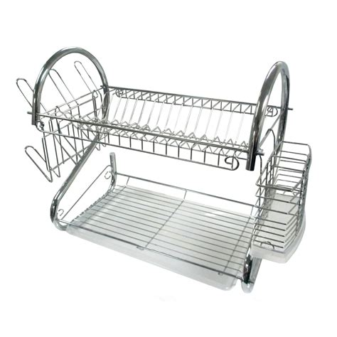 Dish Drying Racks by Better Chef Dr 16 2 Tier Dish Rack 16 Inch Chrome Ebay