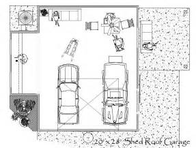 Garage Workshop Floor Plans by Garage Shop Plan