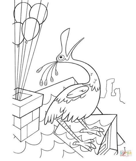 coloring pages of birds singing bird is singing on the roof coloring page free printable