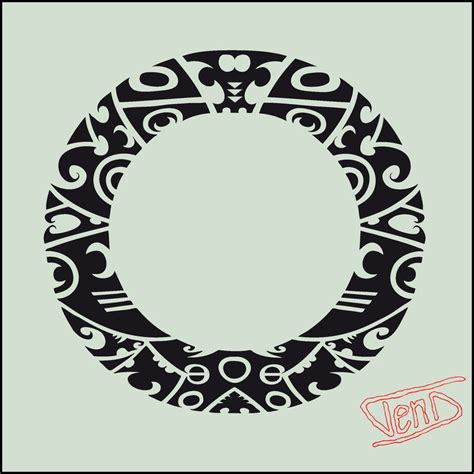 tribal circle tattoos maori polynesian circle designs 187 ideas