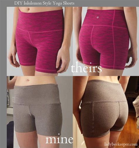 yoga pants with skirt pattern lululemon inspired yoga shorts sewing projects