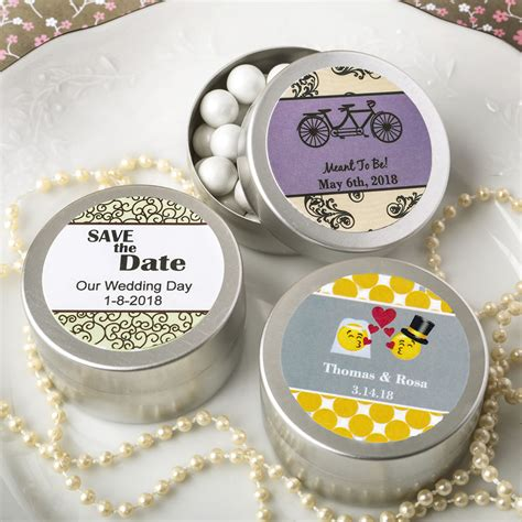 Wedding Favors Tins by Personalized Silver Mint Tin Favors