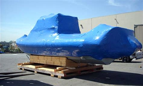 boat shrink wrap vancouver bc industrial packing transloading shipping crates