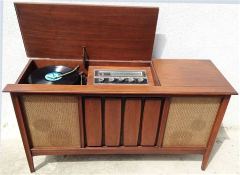 cabinet record player 1960s mid century modern stereo console sylvania record player turntable cabinet