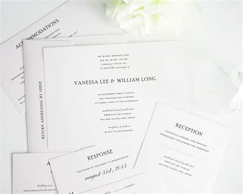 plain wedding invitations traditional wedding invitations in black and white wedding invitations