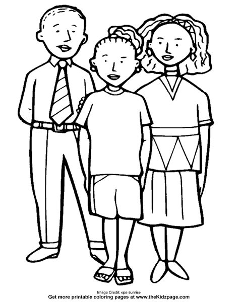 three people standing free coloring pages for kids