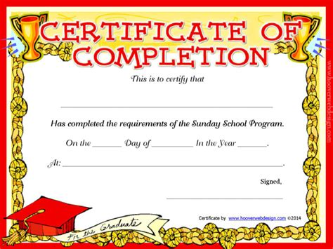 sunday school certificate templates download free