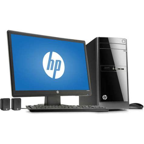 Hp Desk Computers Hp 110 243wb Desktop Pc With Amd A4 5000 Processor 8gb Memory 21 5 Quot Monitor 1tb