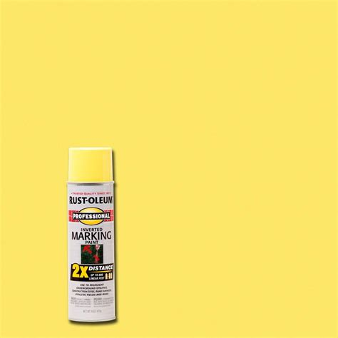 home depot spray paint yellow rust oleum professional 15 oz 2x high visibility yellow