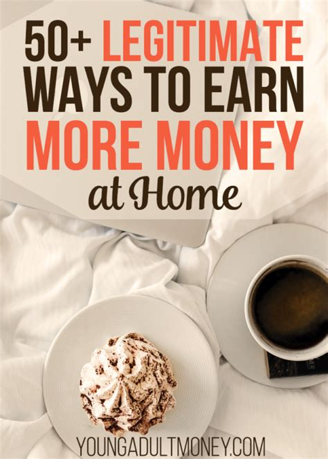 50 legitimate ways to make money at home