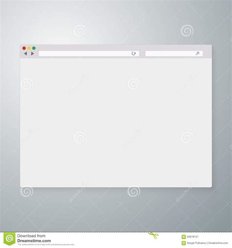 browser eps vector illustration of the browser window stock vector