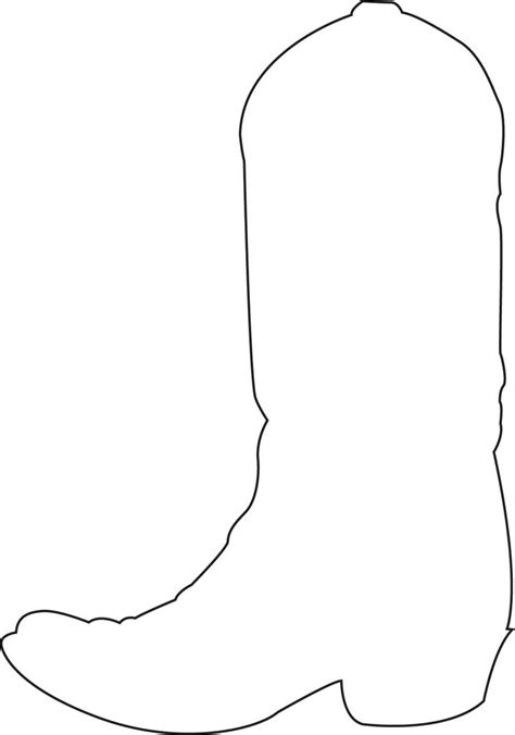 Boot Template by Of Cake Cowboy Birthday Kevin