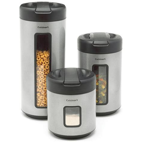 Food Storage Containers   Brushed Stainless Steel (Set of