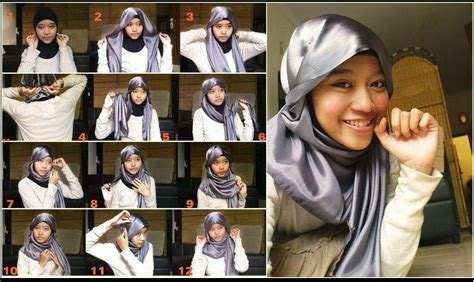 Gaya Kerudung Segi Empat cara memakai jilbab segi empat gaya korea cara berjilbab