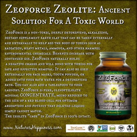 Zeolite Detox Reviews by Discontinued Zeoforce Zeolite Powder Capsules