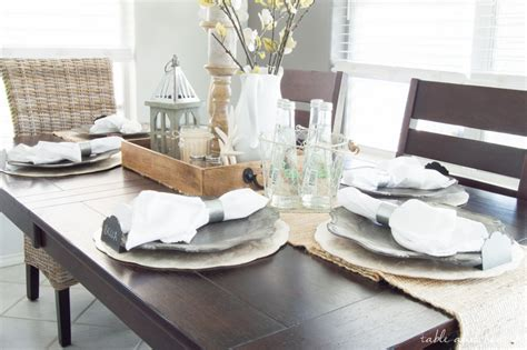Dining room update a coastal farmhouse table setting