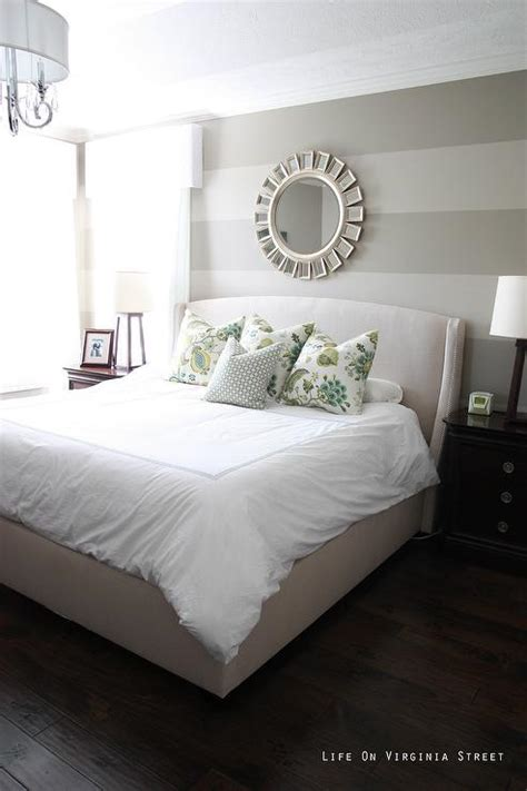 grey and white striped bedroom bedroom with gray striped walls