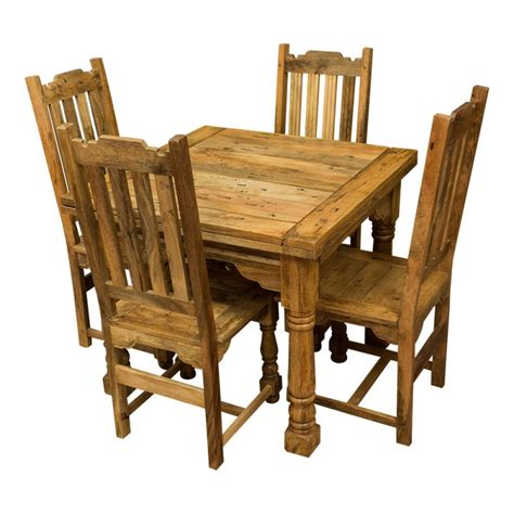 mango wood chairs rustic mango wood plank top butterfly table four chairs