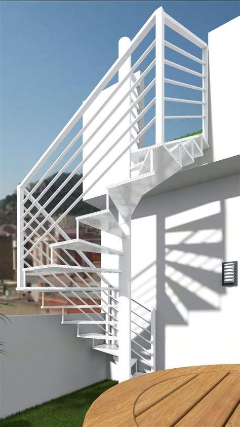 barandilla escalera exterior escalera exterior de chapa perforada escaleras