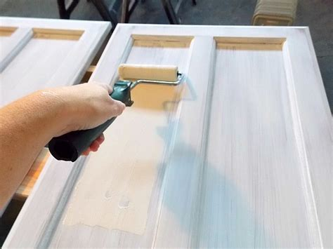 Remodelaholic How To Paint Cabinet Doors How To Paint A Cabinet Door