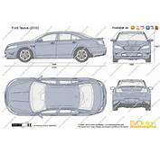 The Blueprintscom  Vector Drawing Ford Taurus