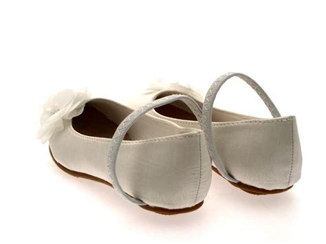 ivory childrens sandals satin flower wedding bridal bridesmaid ivory
