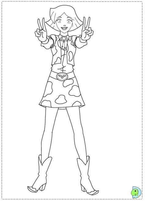 free totally spies sam coloring pages