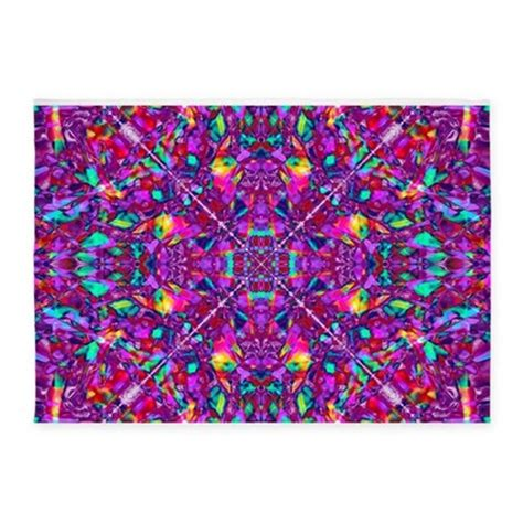 Hippy Rug by Hippie Purple Mandala Pattern 5 X7 Area Rug By Hippygiftshop