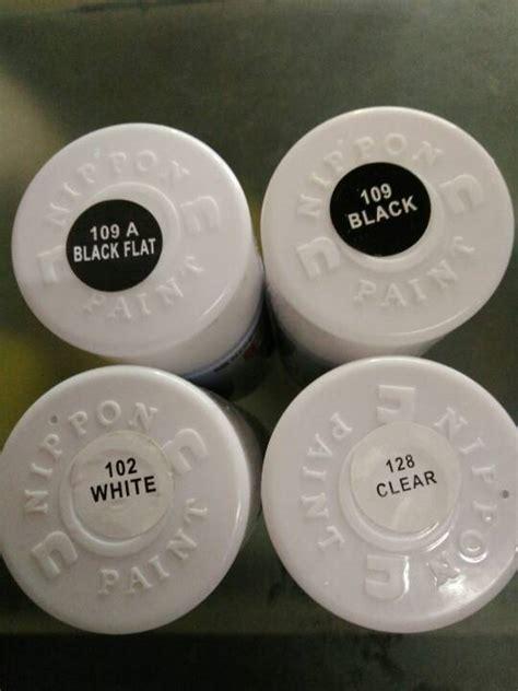 Harga Clear Cat Semprot jual pylox hitam kilap doff clear putih cat