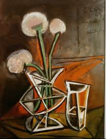 vase with flowers pablo picasso wikiart org