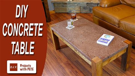 How to Make a Concrete Table   Polished Concrete Top with