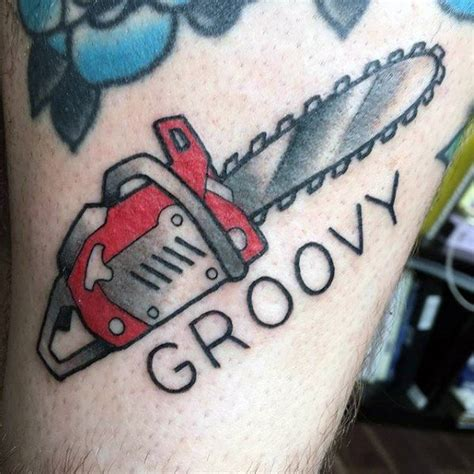chainsaw tattoo designs 40 chainsaw designs for mechanical saw ink ideas
