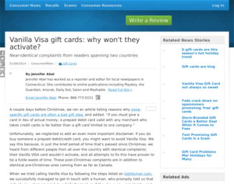 Vanilla Visa Gift Card Customer Service - visa vanilla visa gift cards why won t they activate