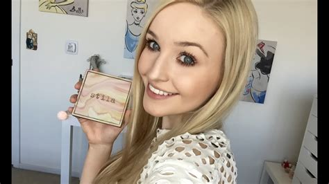 liv loves her makeup stila correct perfect palette demo youtube